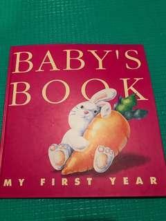 嬰兒成長記錄冊