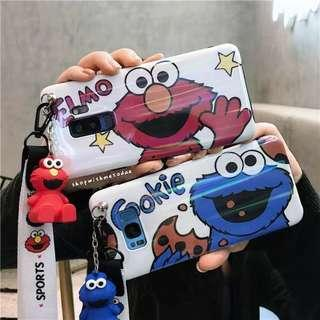 Elmo Cookie Monster Samsung Note 9 / S9 / S8 plus casing