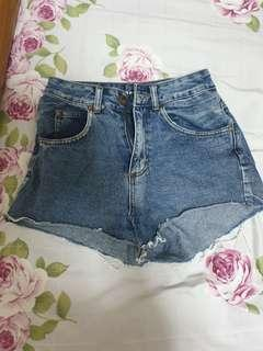 Demin high waist shorts