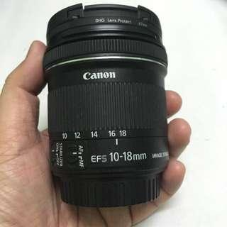Canon EF-S 10-18mm wide lens