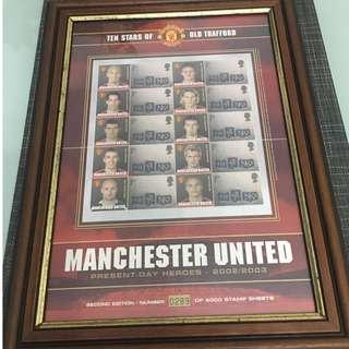 Man United Stamp Collection Year 2002/2003 Limited of 5000 Pieces