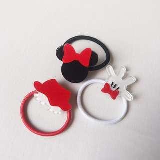 *NEW* 3x Disney Minnie hair Ties