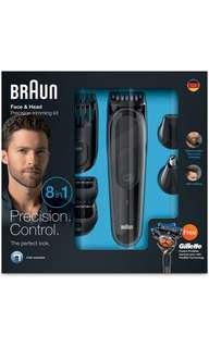 BRAUN 8 in 1 grooming kit