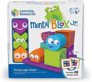 *Brand New* Learning Resources Mental Blox Jr. Early Logic Game, 8 Pieces (Best Gift for Holiday Travel, Birthday and Christmas) Sequencing Pattern Blocks Games