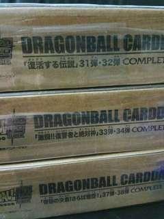 全新 原盒未開 日版 龍珠 本彈 31 32 33 34 37 38