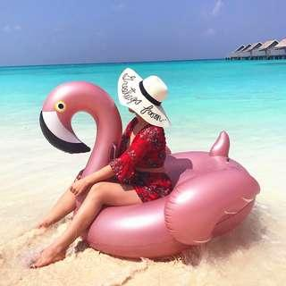 Float Flamingo Rose Gold 150CM Inflatable Giant Pool