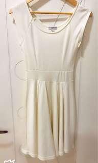 Cotton on white sleeves dress