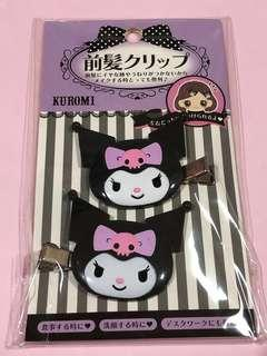 Sanrio Kuromi hair clip set