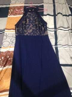 Royal Blue Long Dinner Dress