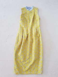 Pre loved Love Bonito yellow qipao Cheong sam Size S