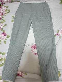 Uniqlo grey stripe office pants