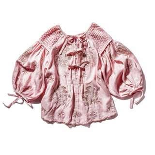 Innika Choo Oliver Daily Smocked Embroidered Top