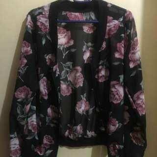 Floral mesh jacket