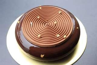 Dark Chocolate and Coffee Entremet