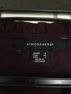 Atmosphere Maroon Blouse (UK brand)