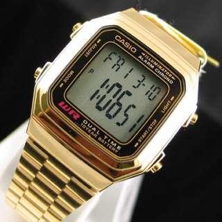 Casio Gold Chain Watch A178W