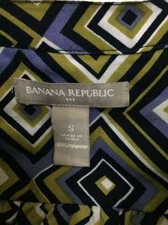 Banana Republic Sleeveless Blouse (Purple&Green)
