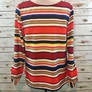 Banana Republic Blouse (Bold striped colours)