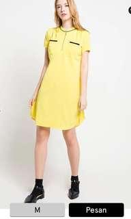 Yellow dress zipper busui