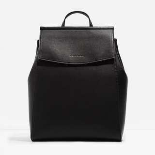 Charles & Keith Two-Way Backpack Black