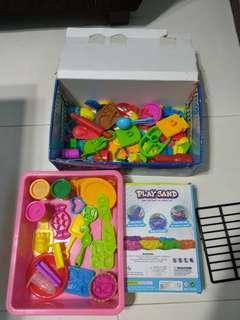 Kinetic sand and playdoh molds accessories