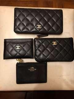 Chanel wallet card holder coin pouch purse 銀包 長銀包 散子包 卡片套