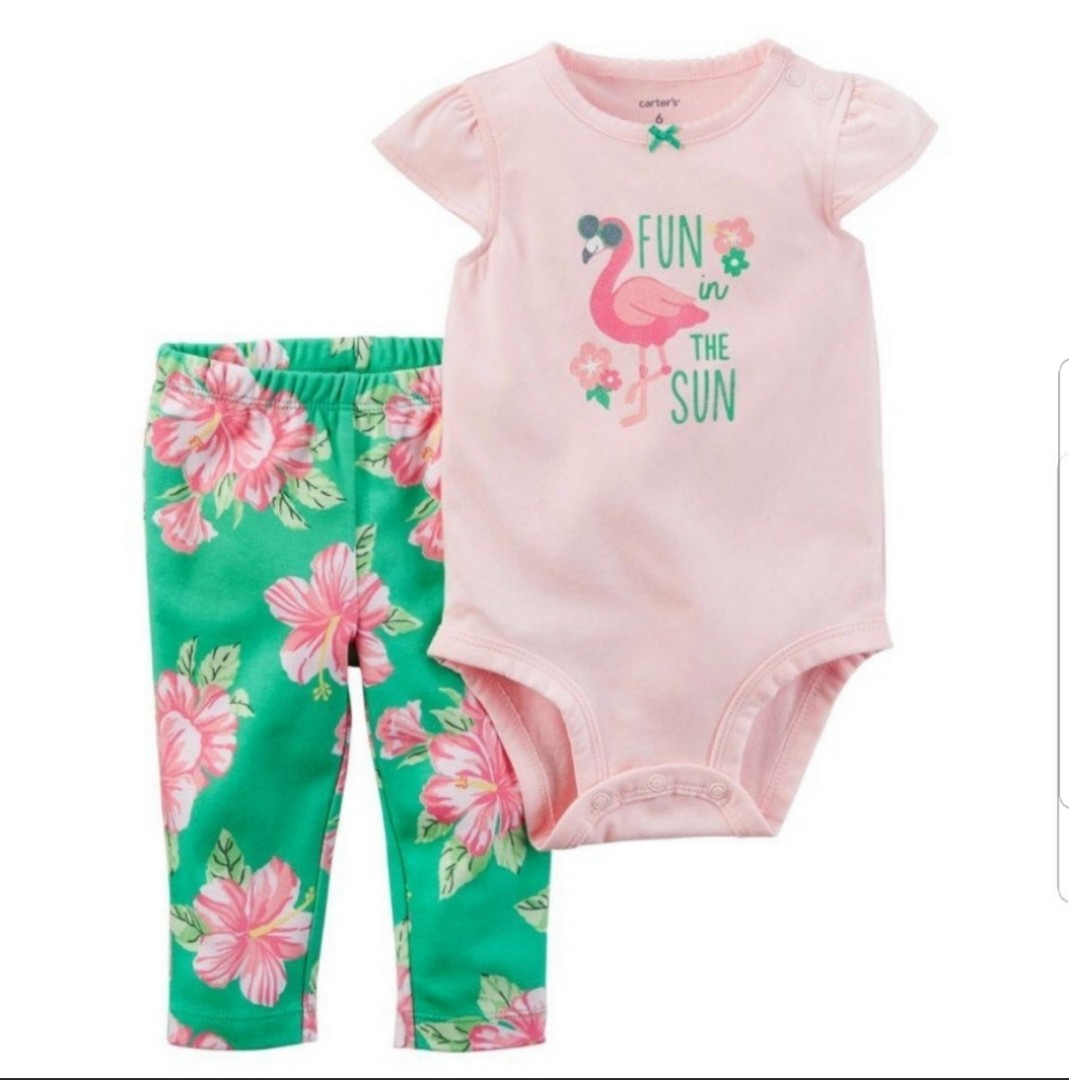 1b74a62ca15ed 24M* BN Carter's 2-Piece Bodysuit Pant Set For Baby Girl, Babies ...