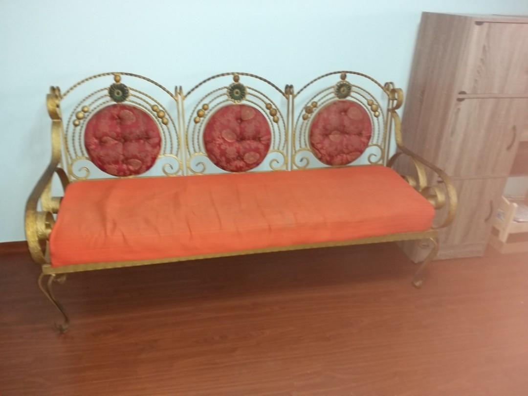 3 2 Wrought Iron Sofa Set Furniture