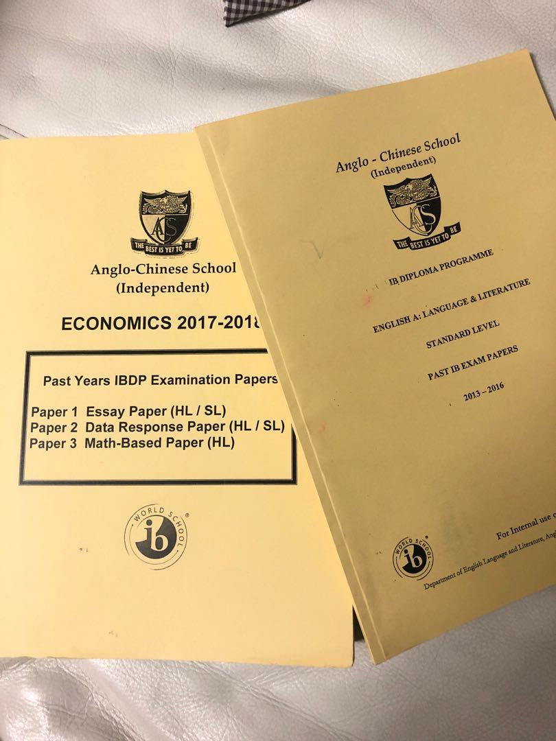 ACSI - Past Year IBDP exam papers, Books & Stationery