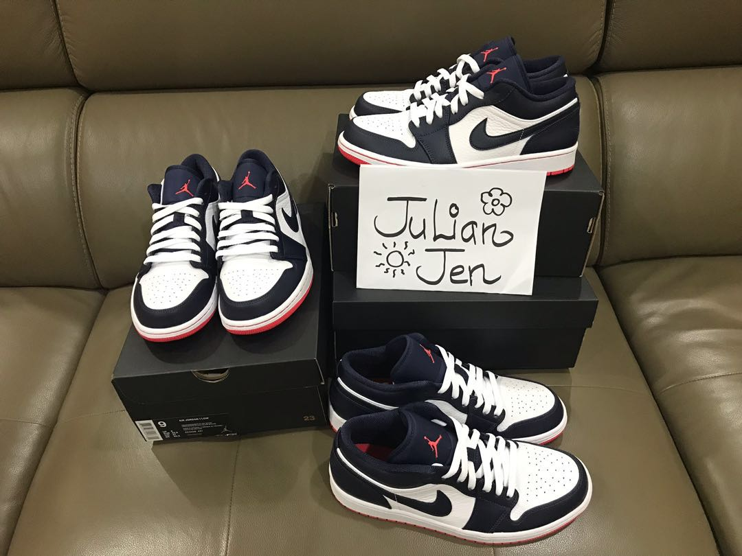 premium selection ever popular low cost Air Jordan 1 Low Obsidian, Men's Fashion, Footwear, Sneakers ...