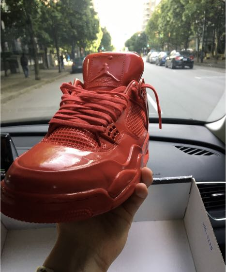 """save off 2a3a1 bdc08 AJ 4 11LAB4 """"RED PATENT LEATHER"""""""