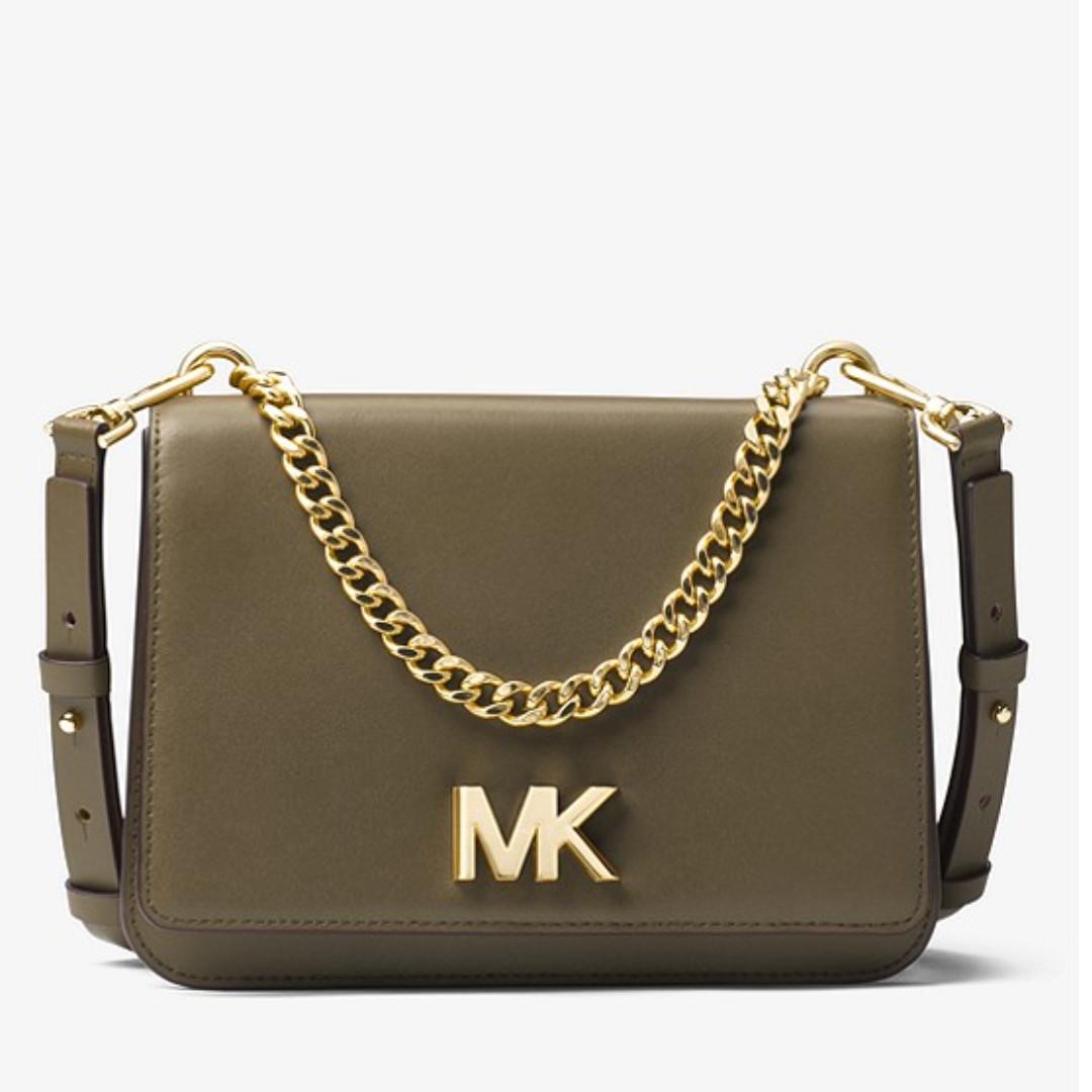 4b44671870c6af Authentic MK Michael Kors Mott Leather Crossbody Shoulder Bag ...