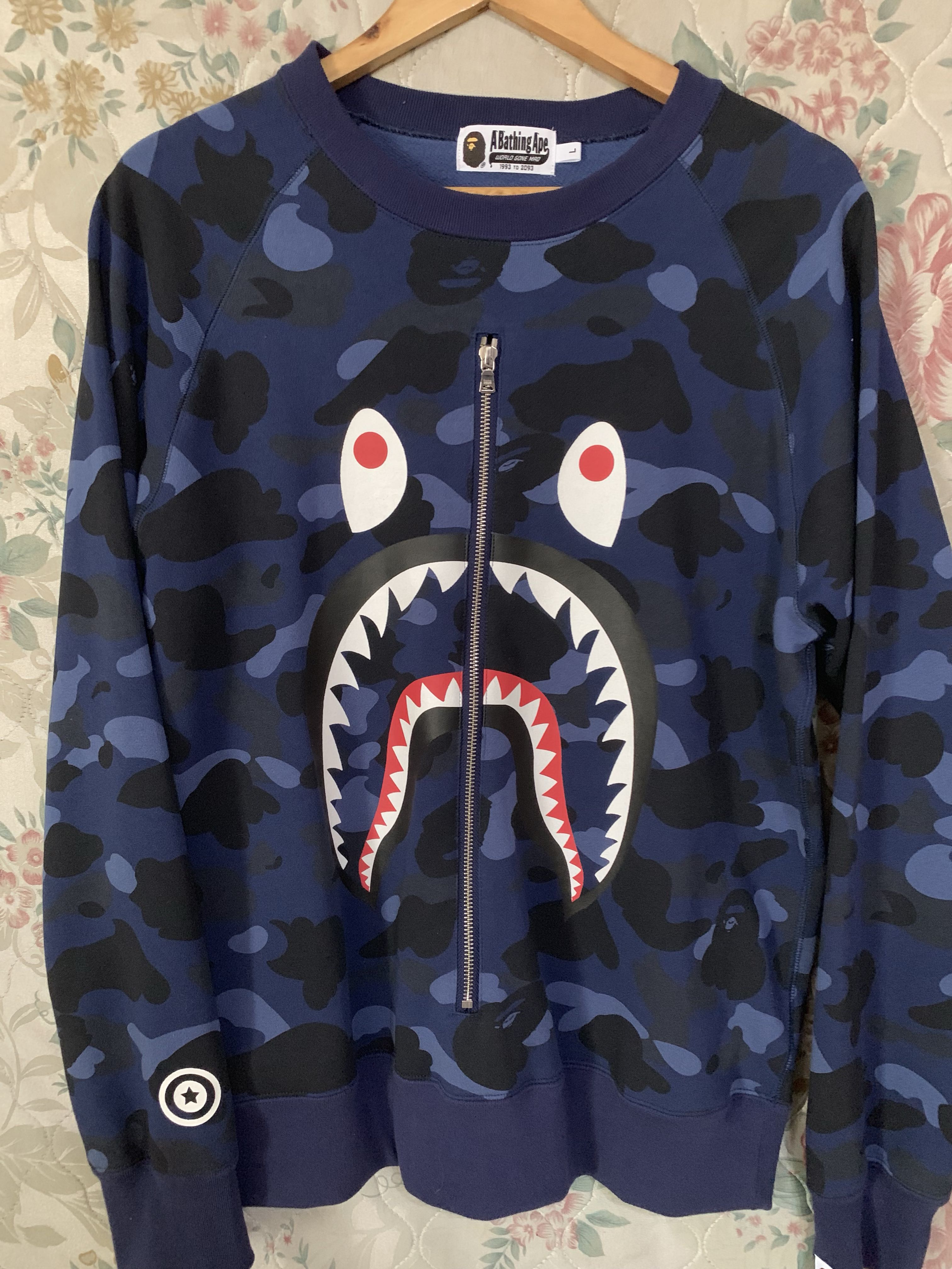 79af5fbe787c BAPE Color Camo Shark Crewneck