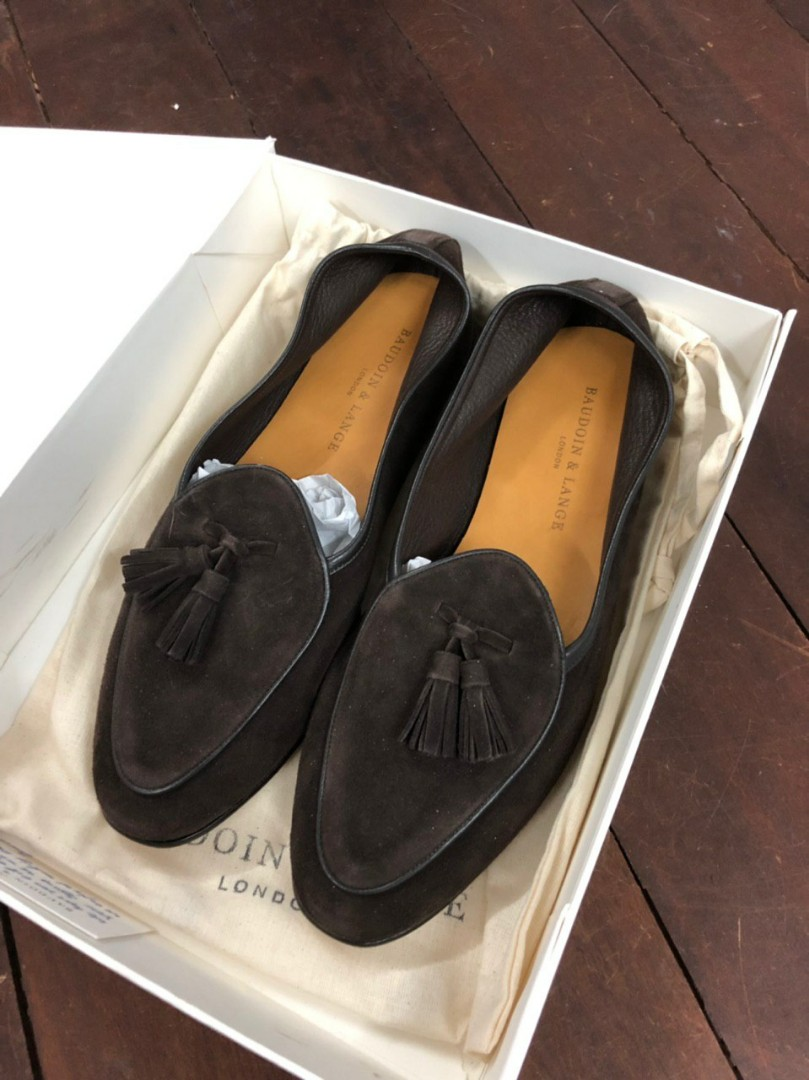 e28caebbc77 Baudoin and lange dark brown tassel loafers size 41