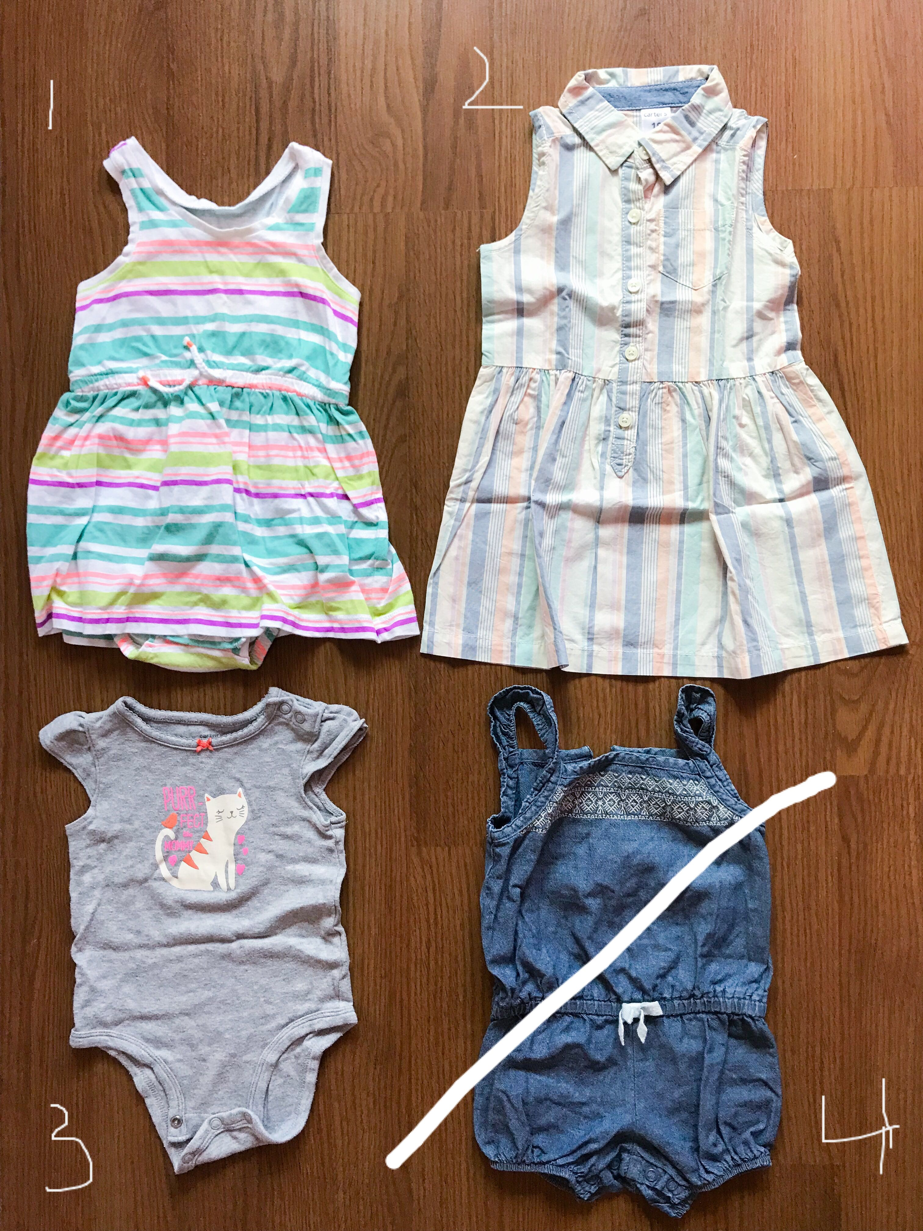 afee1b5a4a84 Carter s Dresses   Rompers   Bodysuits 6-18 months