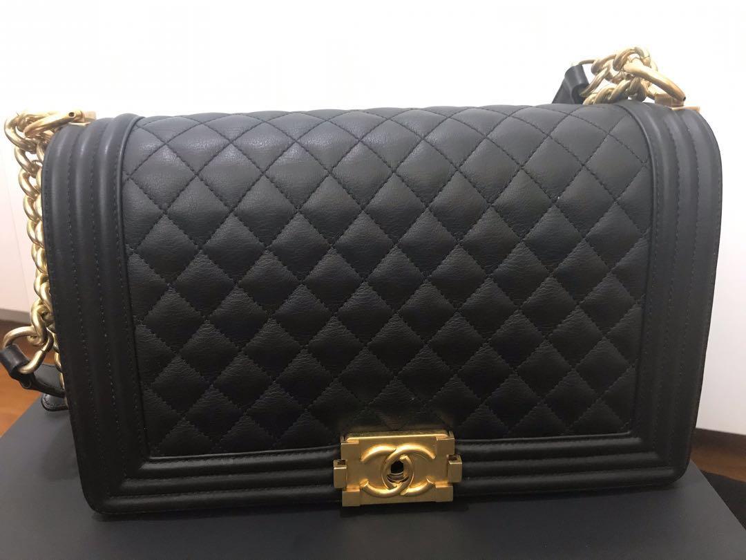 76cb931d8609 Chanel Boy, Luxury, Bags & Wallets, Handbags on Carousell