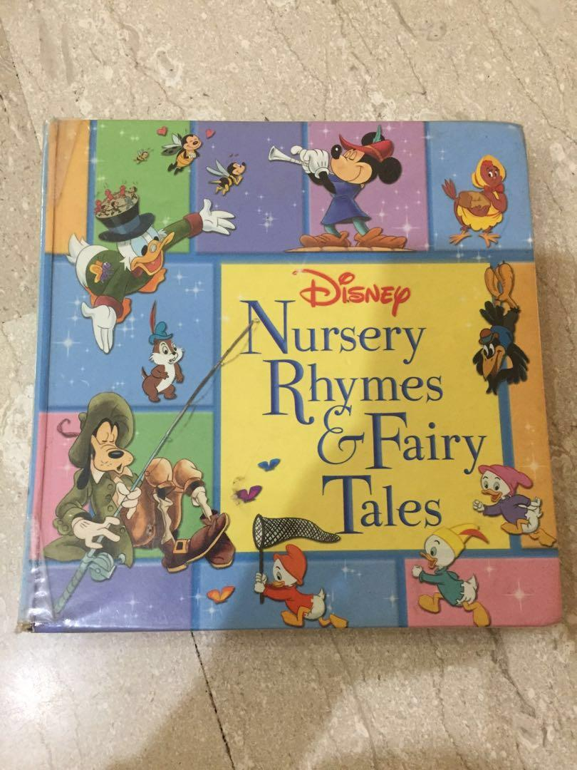 Children Book Hardcover Disney Nursery Rhymes Fairy