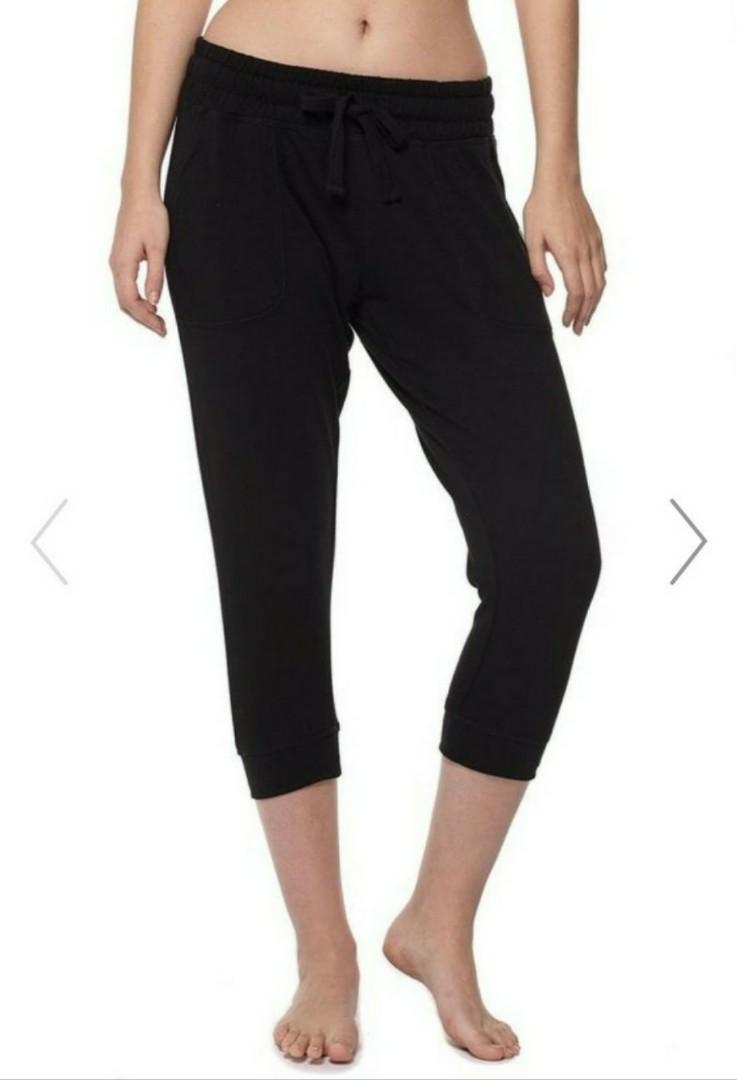 e60ed64b2fdb7 Cotton On Body Cropped Gym Track Pants Black, Women's Fashion ...