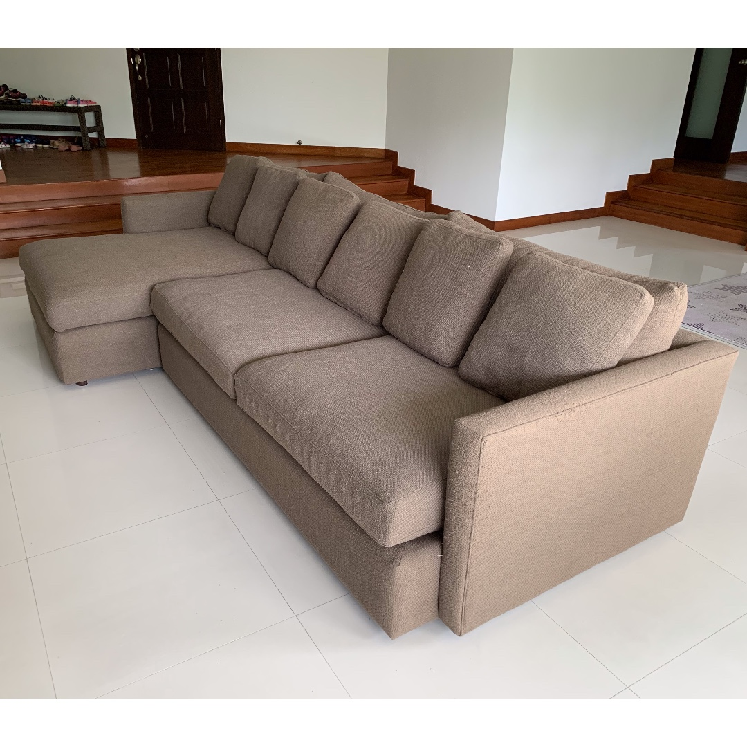 Crate and barrel sectional sofa furniture sofas on carousell