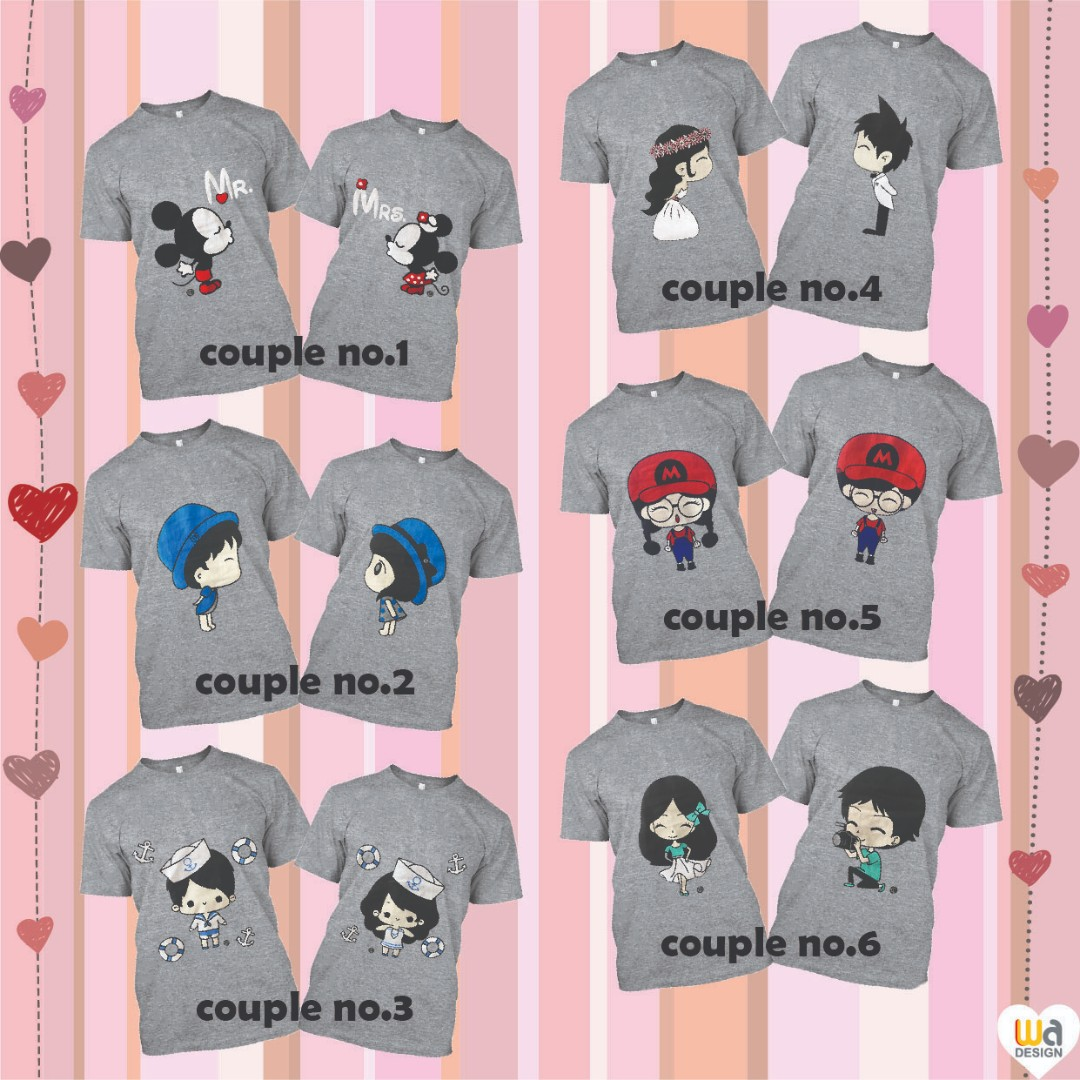 41ca33ccc5 Cute Couple T-Shirt for Valentine's Day, Women's Fashion, Clothes ...