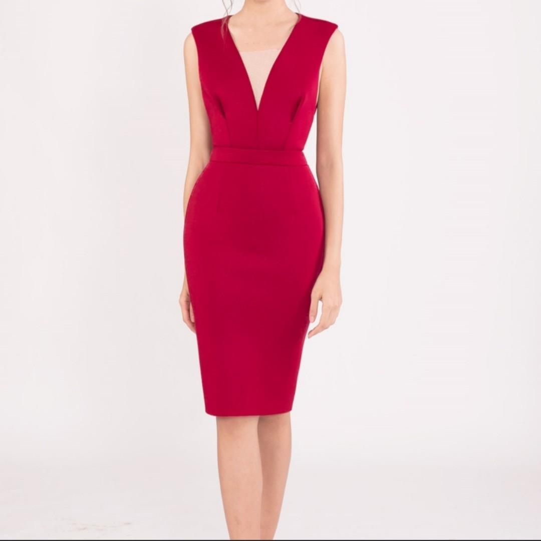Red Scuba Dress