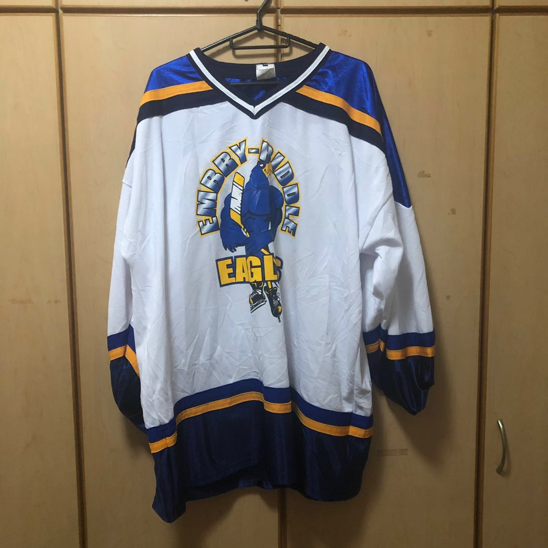 9ee180d6 Vintage Embry–Riddle Eagles Hockey Jersey, Men's Fashion, Clothes ...