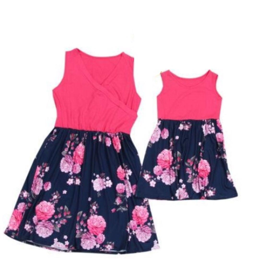 fb523b9adaf18 family New Clothes Lady Mother Daughter Matching Summer Baby Girl Dress  twinnie new year