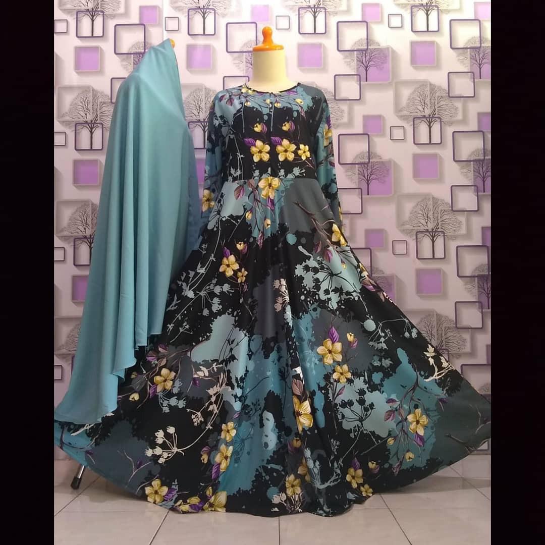 Gamis Dobbyjazz Misbee Aku Karissa Fesyen Wanita Muslim Fashion Lainnya Di Carousell