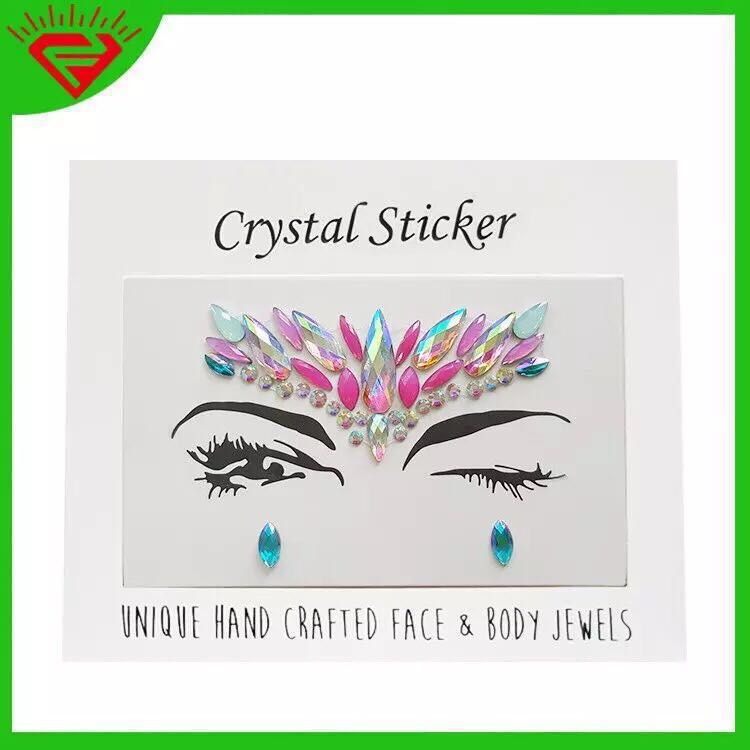 1b476b873 Gems makeup Face crystal gem stickers jewel Glitter acrylic adhesive ...