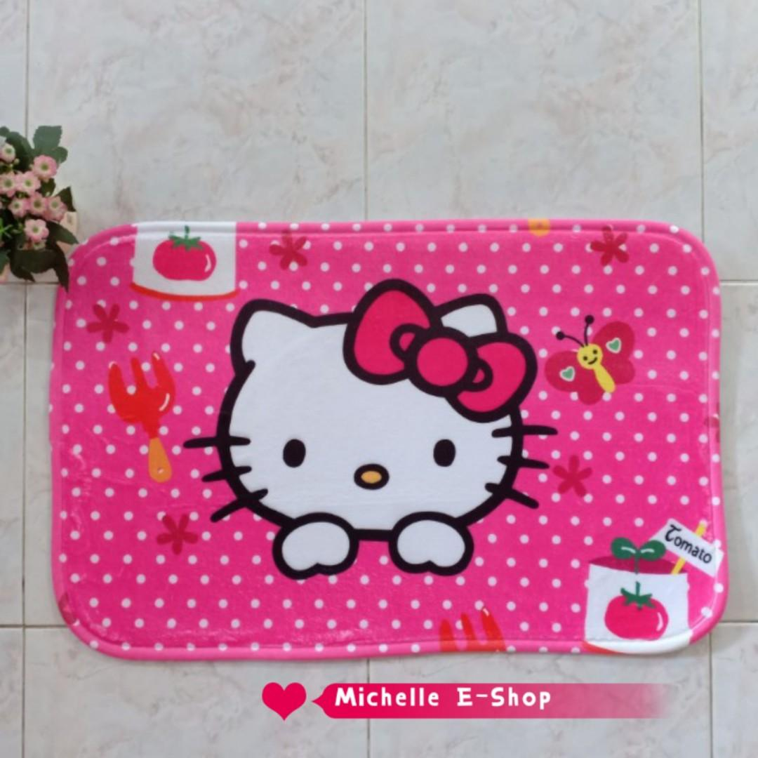 Hello Kitty Cartoon Floor Mat Carpet Ready Stock