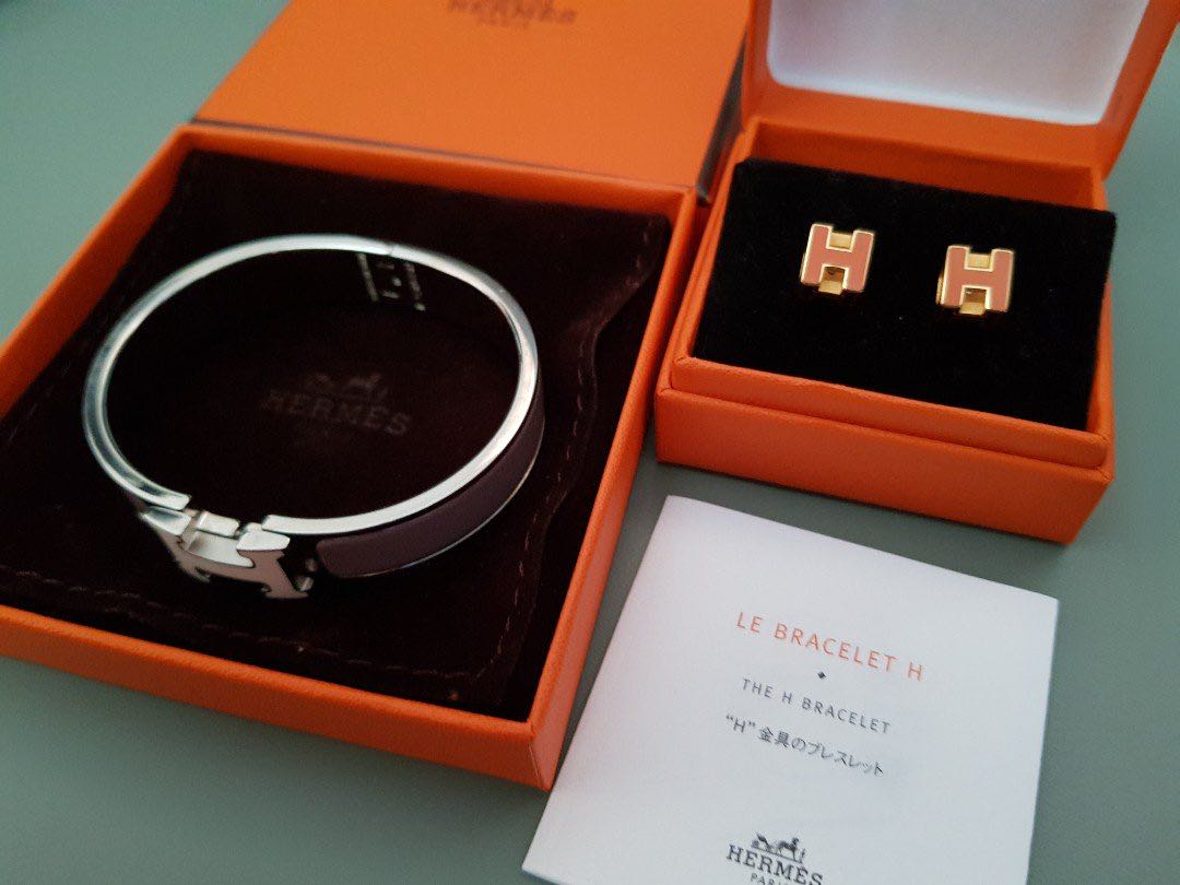 adf0a15cbd6d Hermes Clic Clac H Bracelet and Earrings