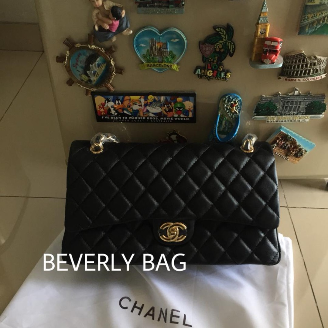 c4e35b932c42 Jaul tas bag Chanel Classic Lambskin 30 LEATHER MIRROR - hitam GHW, Olshop  Fashion, Olshop Wanita on Carousell