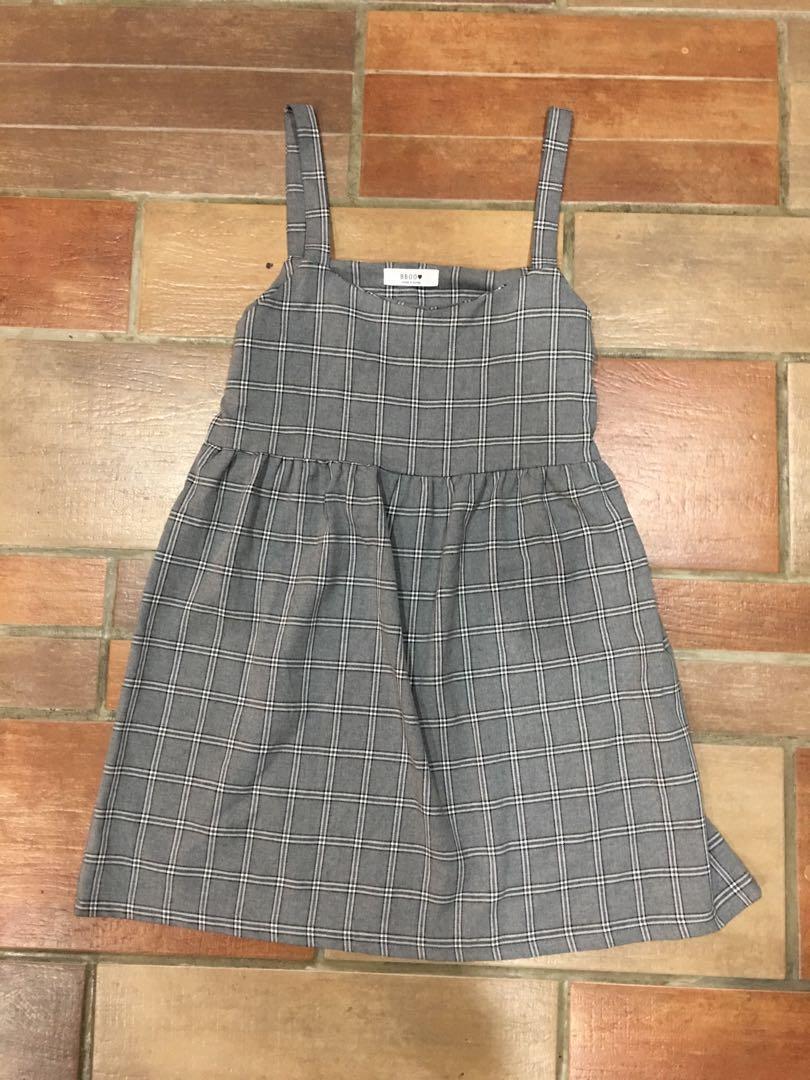 Korean grid dress