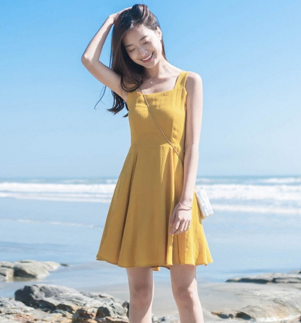 Korean Strap Dress Korea Style Ulzzang 2019 Brand New Fashion